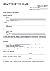 Natural Burial Agreement