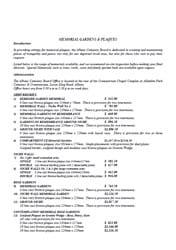 Memorial Gardens & Plaques Prices